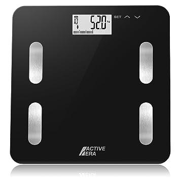 Active EraTM - Báscula de baño ultrafina para medir la grasa corporal. Analizador con% de grasa corporal, IMC, edad, peso y altura (negro): Amazon.es: Salud ...