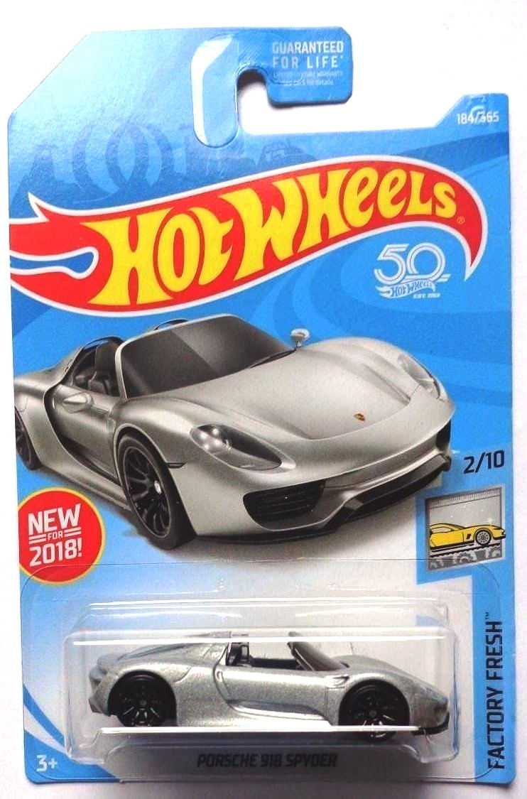 Buy Hot Wheels Fresh Porsche 918 Spyder 184 365 Silver Online At