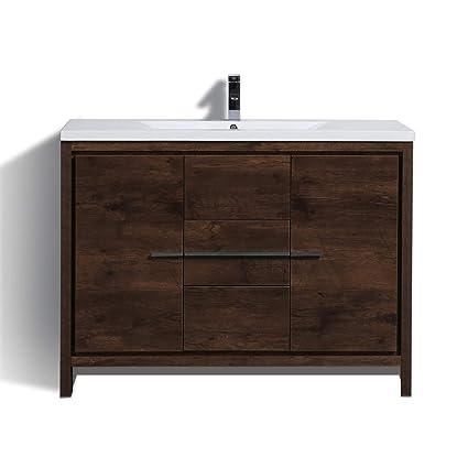 New York Bath ZD 48 Modern Bathroom Vanity With Top ROSE