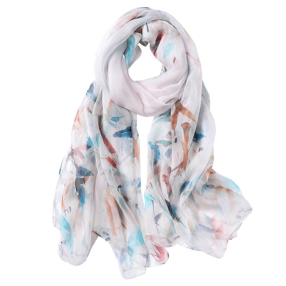 SaiDeng Sciarpa di Cotone Morbida Silk Quadrato Stole Scialle Moda Colore Solido per Donna