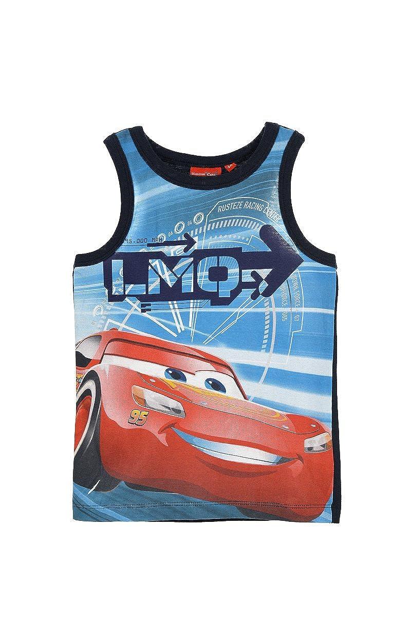 Disney Pixar Cars 3 Official Boys Vest T Shirt Top 100/% Cotton Navy 8