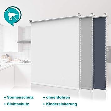 Thermo Rollo Verdunklungsrollo mit /& ohne Bohren Fenster kürzbar 80x150 cm weiß