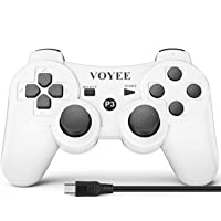 VOYEE Controller Replacement for PS-3 Controller, Wireless Move/Motion Controller Gamepad with Upgraded Joystick…