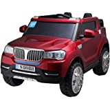 PA Toys BMW X5 S8088 with Rubber tires 24V, 4x4 up to 6 years kids ride on car (Red)