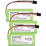 Floureon 3 Packs Cordless Home Phone Battery for Uniden BT1008 BT-1008 BT1016 BT-1016 BT1021 BT-1021 WITH43-269 WX12077 Sanyo CAS-D6325
