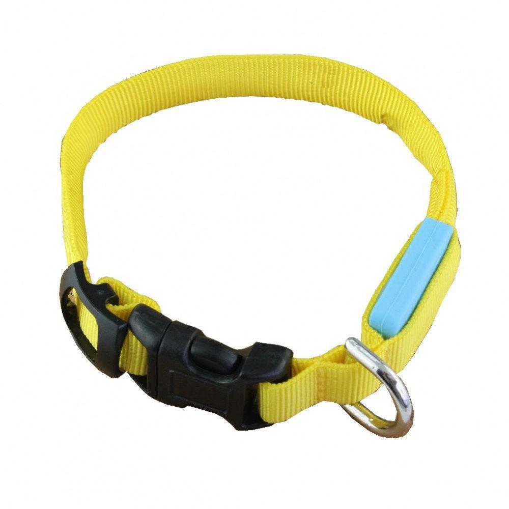 schwarz//gelb 04002945 Heitech LED Leucht-Halsband