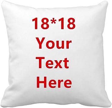 Amazon.com: Funda de almohada divertida con tu propio texto ...
