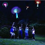 Habelyi 25PCS Amazing Led Light Arrow Rocket Helicopter Flying Toy Party Fun Gift Elastic Slingshot Flying Copters Birthdays