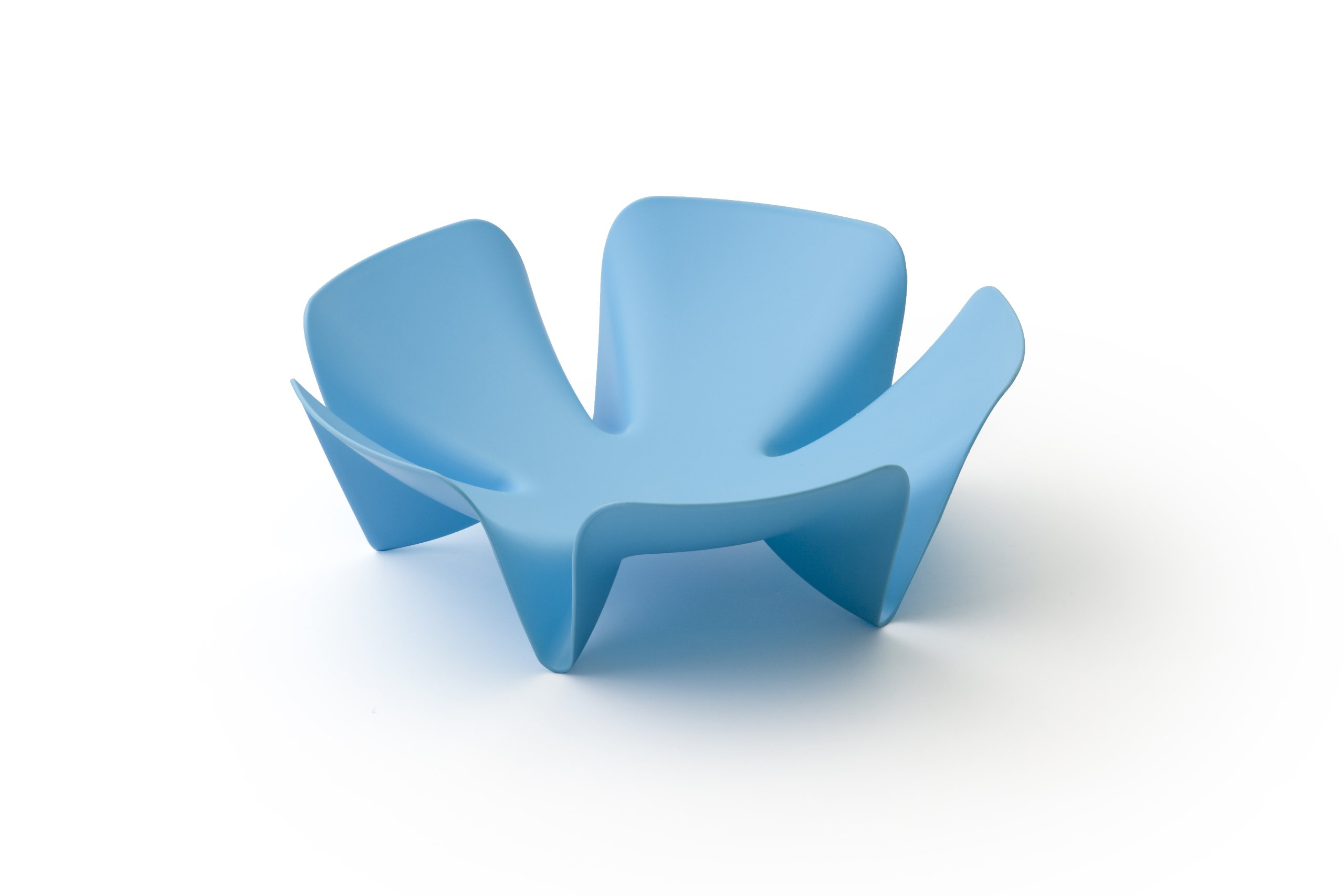 Qualy Flower Fruit Tray Blue by Qualy (Image #1)