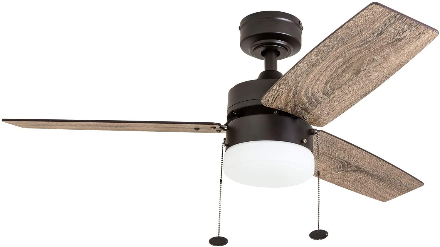 "Prominence Home 51015 Reston Farmhouse Ceiling Fan, 42"", Bronze"