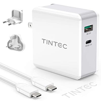 Tintec USB-A&USB-C 2ポート QuickCharge3.0&PowerDelivery対応充電器 PD45W 税込1,410円 プライム会員送料無料