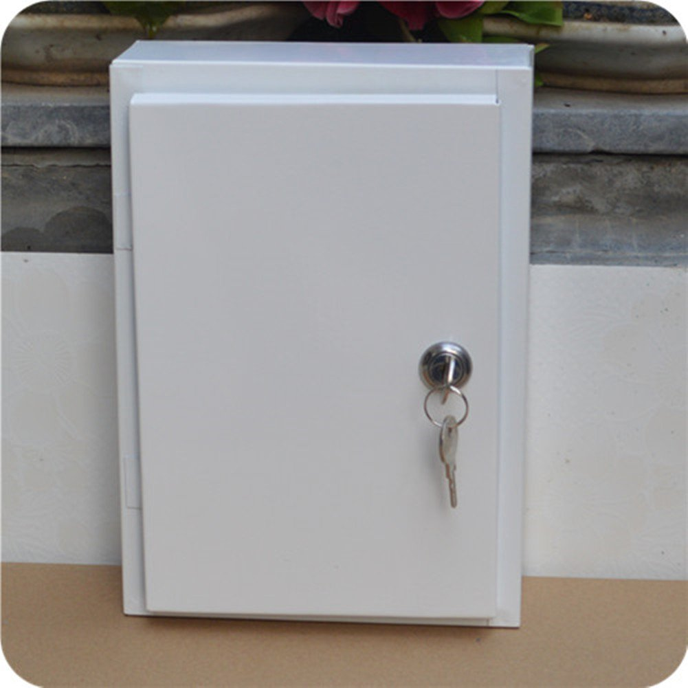 Large milk box Outdoor rainproof mail box Padded metal milk box with lock without Letter Slot