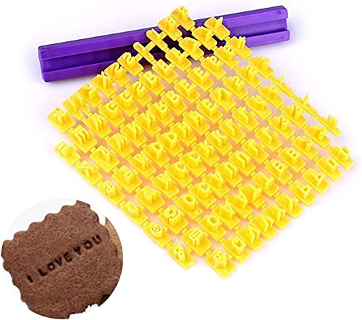 rongweiwang Alphabet Lettre Biscuit G/âteau Timbre Biscuit Lettre Plastique Pressebiscuits embosseuse en Plastique de Cuisson Stamp Moule p/âtisserie
