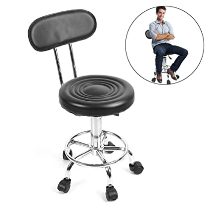 Taburete giratorio de altura regulable con ruedas, peluquería ajustable, silla de peluquería, peluquería