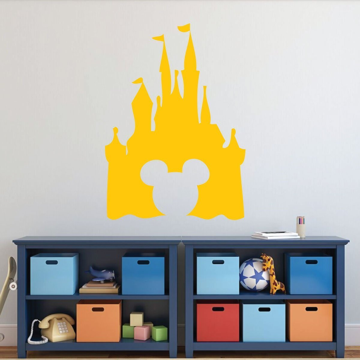 Amazon.com: Disney Castle Silhouette Wall Decal - Peel and Stick ...