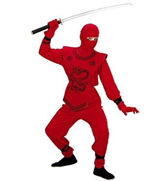 Childrenu0027s Red Ninja Costume Small 5-7 yrs (128cm) for Oriental Chinese Fancy  sc 1 st  Amazon UK & BOYS RED NINJA COSTUME NINJA OUTFIT - (RED): Amazon.co.uk: Toys u0026 Games