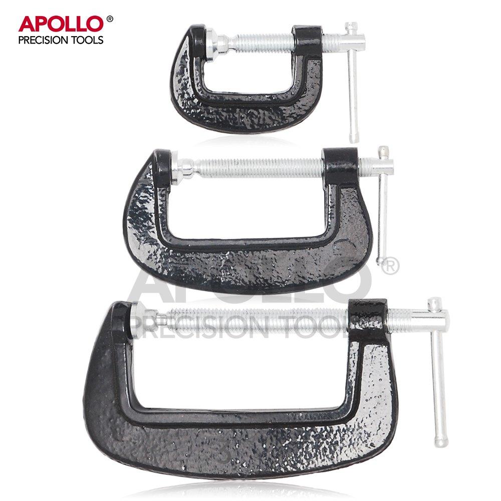 Hi-Spec Lot de 3 serre-joints pour charges lourdes avec ouvertures de 25 mm, 50 mm et 75 mm de large, rembourrage pivotant et barre coulissante pour un montage rapide et facile Hi-Spec Products