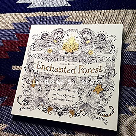 NewSecret Garden Coloring Book Magic Wonderland Enchanted Forest Relieve Stress Painting Drawing Reduce Pressure With