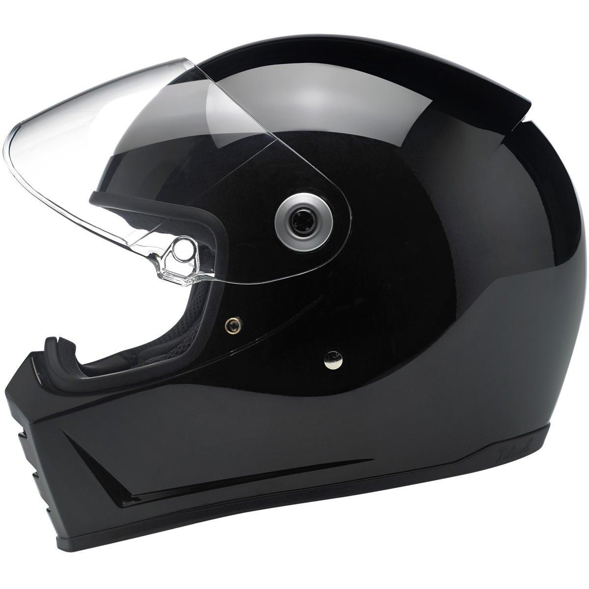 ECE approved NERO LUCIDO Casco Lane Splitter Helmet