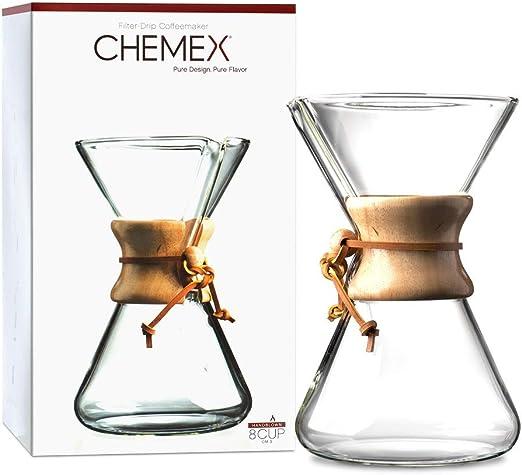 Chemex Hand Blown CM-3 | Cafetera de Filtro Manual de 8 Tazas ...