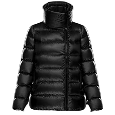 Moncler Women Black Slim Hooded Lightweight Down Jackets Puffer Coats -XS