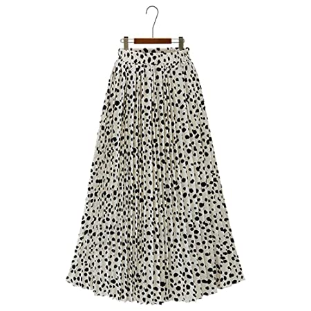 Mebeauty Faldas de Mujer Falda de Gasa Plisada con Estampado de ...