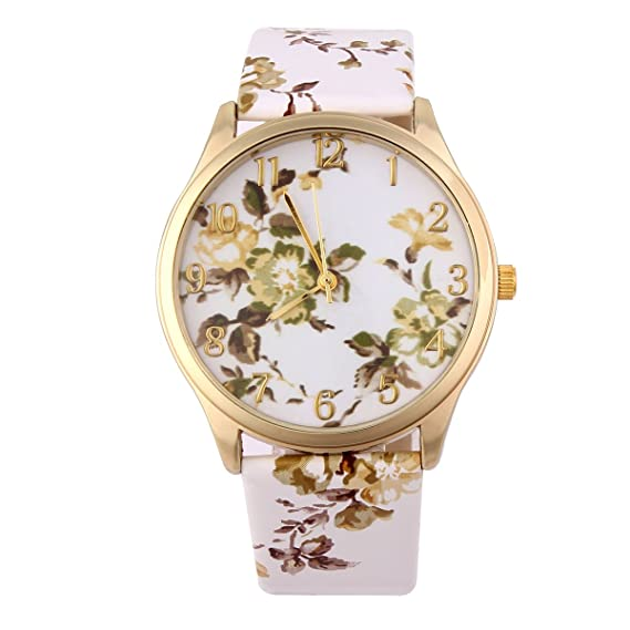 Yesurprise Reloj Cuarzo Estilo Porcelana China Para Mujer Correa De Cuero Color #1: Amazon.es: Relojes