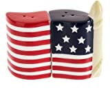 Patriotic Salt and Pepper Shaker Red White Blue American Flag