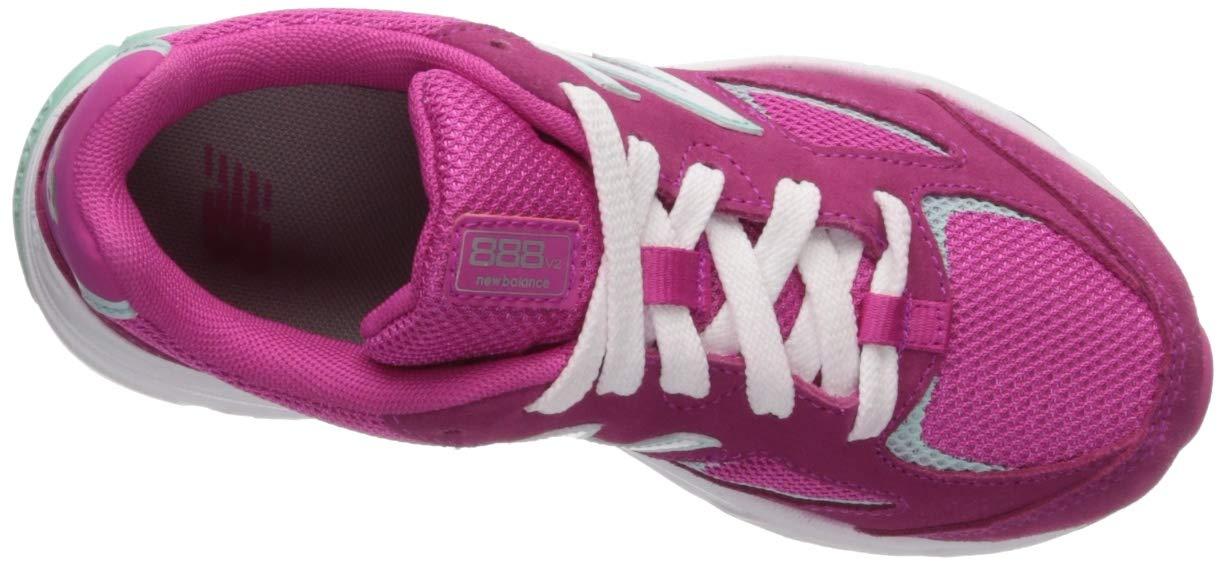New Balance Girls' 888v2 Running Shoe, Carnival/Light Reef, 10 XW US Toddler