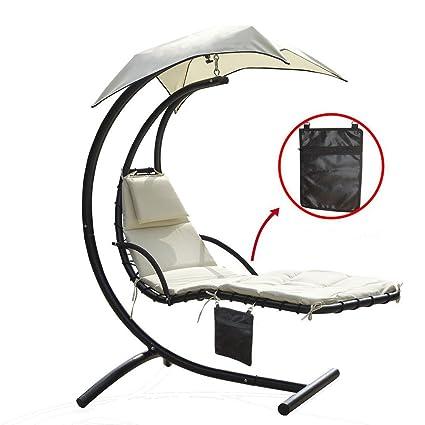 Amazon.com: Sillón, silla playera, tumbona colgante ...