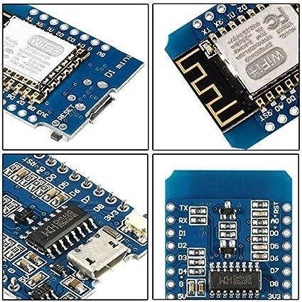 1pcs Organizer ESP8266 ESP-12 ESP-12F NodeMcu Mini D1 Module WeMos Lua 4M Bytes WLAN WiFi Internet Development Board Base on ESP8266 ESP-12F for Arduino,Compatible with WeMos D1 Mini
