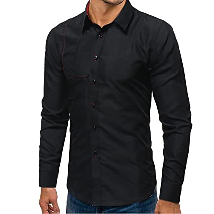 Camiseta Manga Larga Hombre Camiseta Manga Larga etiqueta Camisas Longsleeve Sudadera Polo Hombre Grandad Casual Outdoor