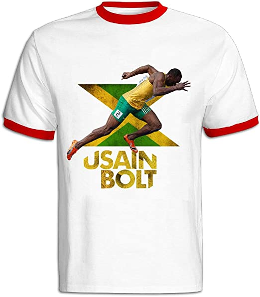 CHALZ Playera de Manga Corta Usain Bolt Champion Jamaica para ...
