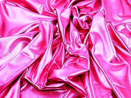 Metálico Lycra para vestidos (58, tela Cerise rosa – por metro