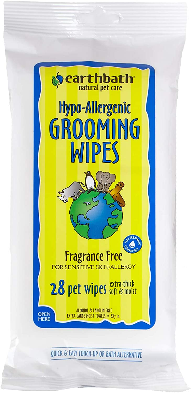 BUY NOW DIRECT Earth Bath Hypo - allergenic Grooming Wipes Travel Pack 28ct