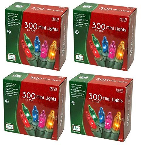 Noma/Inliten Holiday Wonderlands 300 Mini Lights Set (Pack of 4)