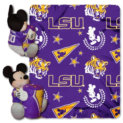 (The Northwest Company NCAA LSU Tigers 40x50-Inch Throw with 14-Inch Hugger)