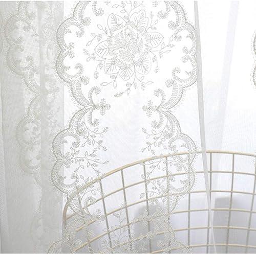 pureaqu Extra Wide White Sheer Curtain