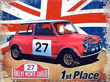 Rally Monte-Carlo A/ños 60 deporte Union Gato Brit/ánico cl/ásico coche Rally coche Rojo,n/úmero 27 Coche Motor,carreras,veh/ículo Italiano Ho casa,hogar,garaje,vertiente// Mini Cooper s 1st lugar