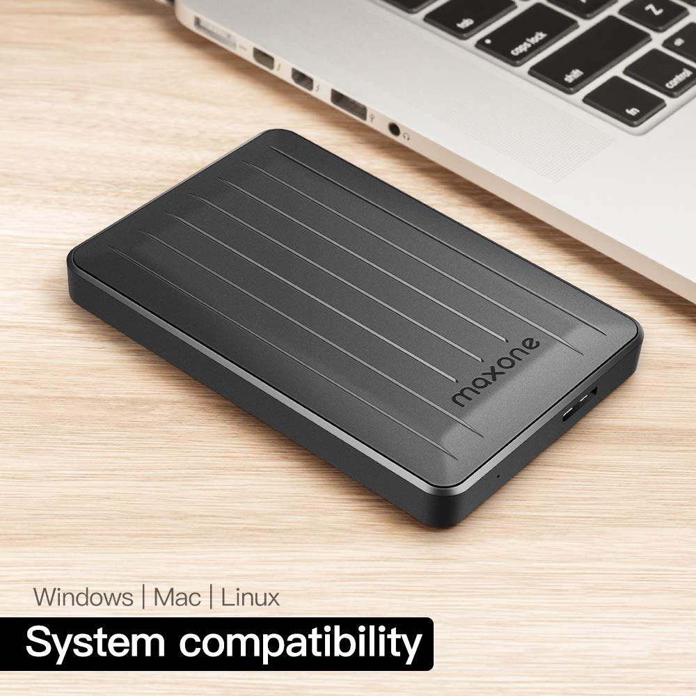 160GB Portable External Hard Drive- 2.5 Inch External Hard Drives for Laptop,Desktop,Wii U,MacBook,Chromebook (160GB, Black) by Maxone (Image #4)