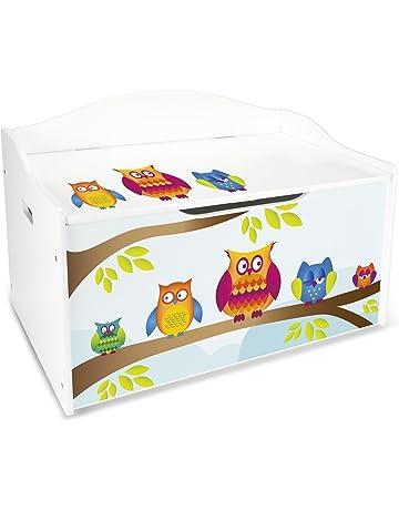 Baúl Para Juguetes XL Caja de Madera Almacenamiento Baúl Infantil Cuarto de Niños Equipamiento de Sala