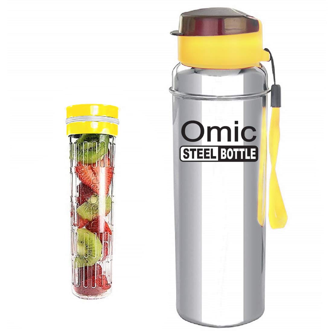Omic Stainless Steel Fruit Infuser Water Bottle, Stainless Steel Bottle with Infusion Unit, (Color May Be Vary) (1000)