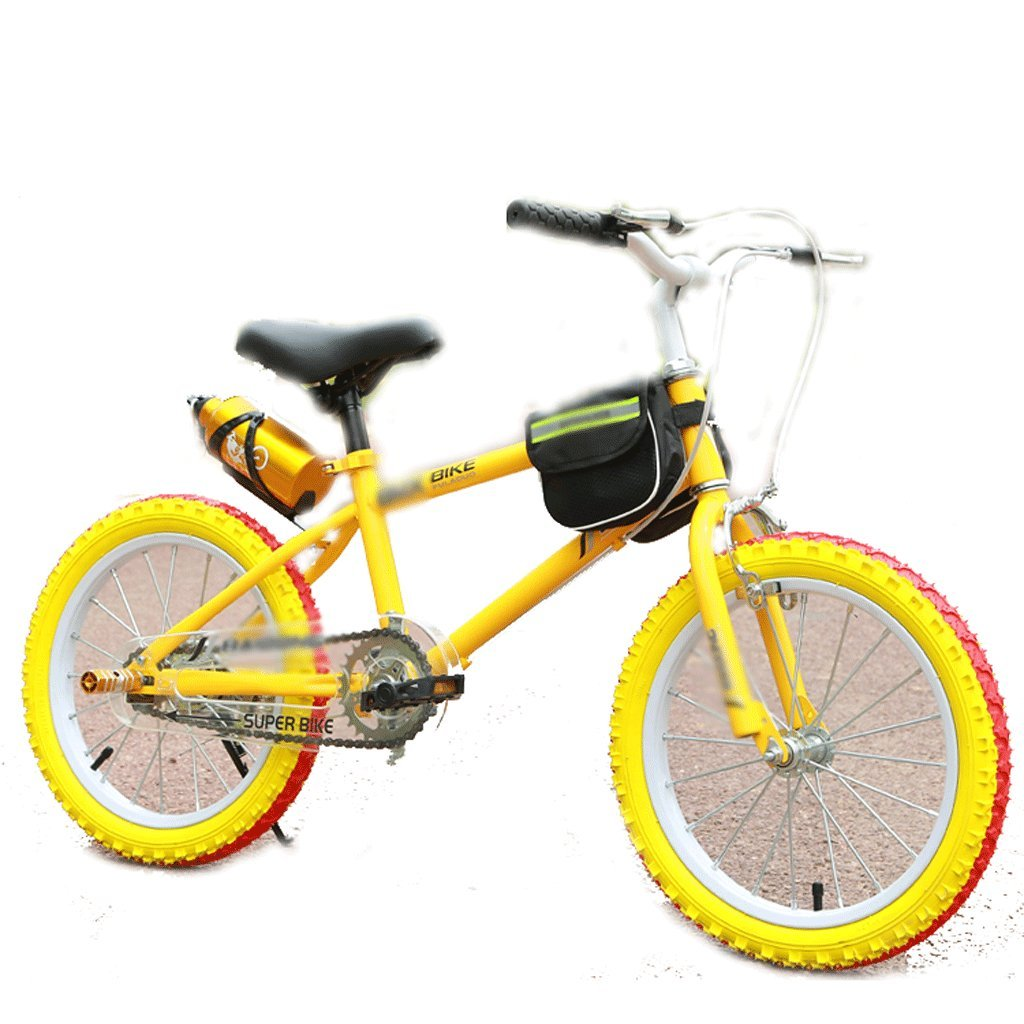 自転車 子供のマウンテンバイク男性と女性の学生18インチイエロー (サイズ さいず : 18 inch) B07DZX6TPD 18 inch 18 inch