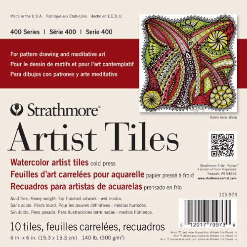 strathmore-400-series-watercolor-cold-press-glue-bound-top-artist-tiles-6-x-6-10-pack