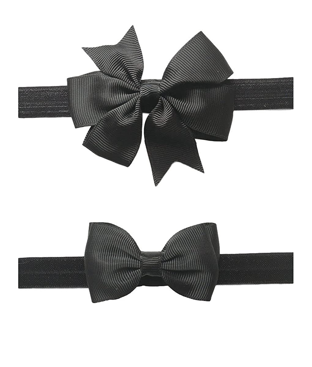 8d3017e6a9bf 1pc Grosgrain Ribbon Pinwheel + 1pc Ribbon Bows Hair Tie Material:Grosgrain  Ribbon Elastic Band Size: 7.09*0.59 Inch Pack: 2pc Set Baby Hairband