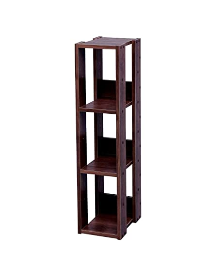 quality design 3de66 517d8 Amazon.com: EFD 3 Tier Bookcase Narrow Compact Wooden Free ...