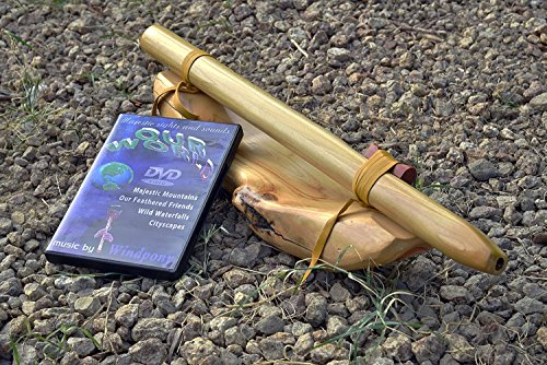 Windpony key of F# 6-hole Poplar Native American Style Flute with DVD