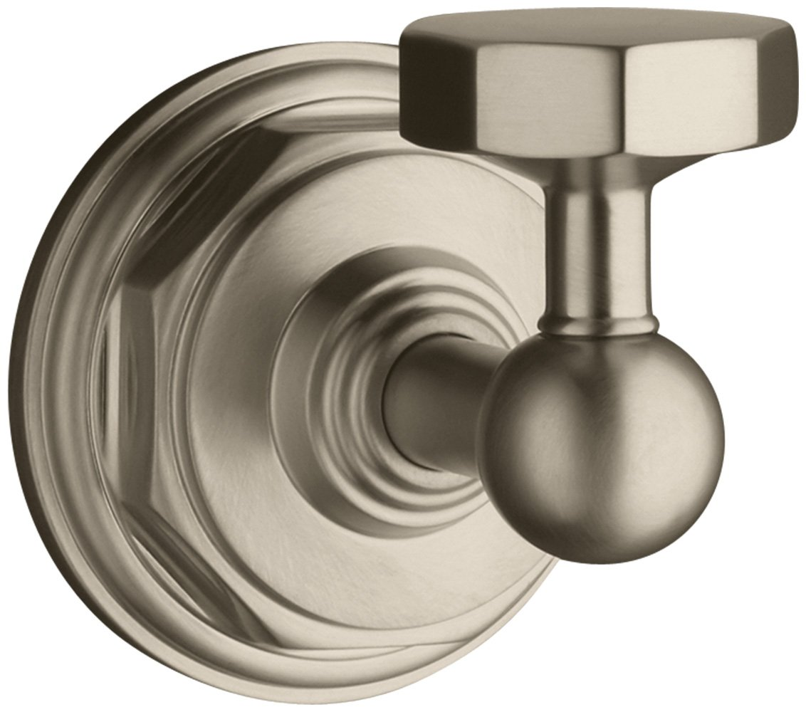 Kohler K-13113-BV Pinstripe Robe Hook, Vibrant Brushed Bronze by Kohler