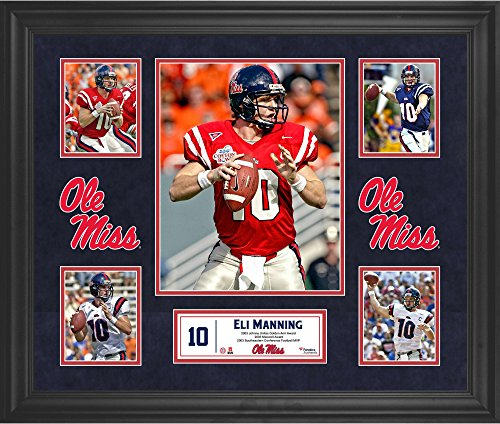 """Eli Manning Ole Miss Rebels Framed 20"""" x 24"""" 5-Photo Collage - College Player Plaques and Collages by Sports..."""