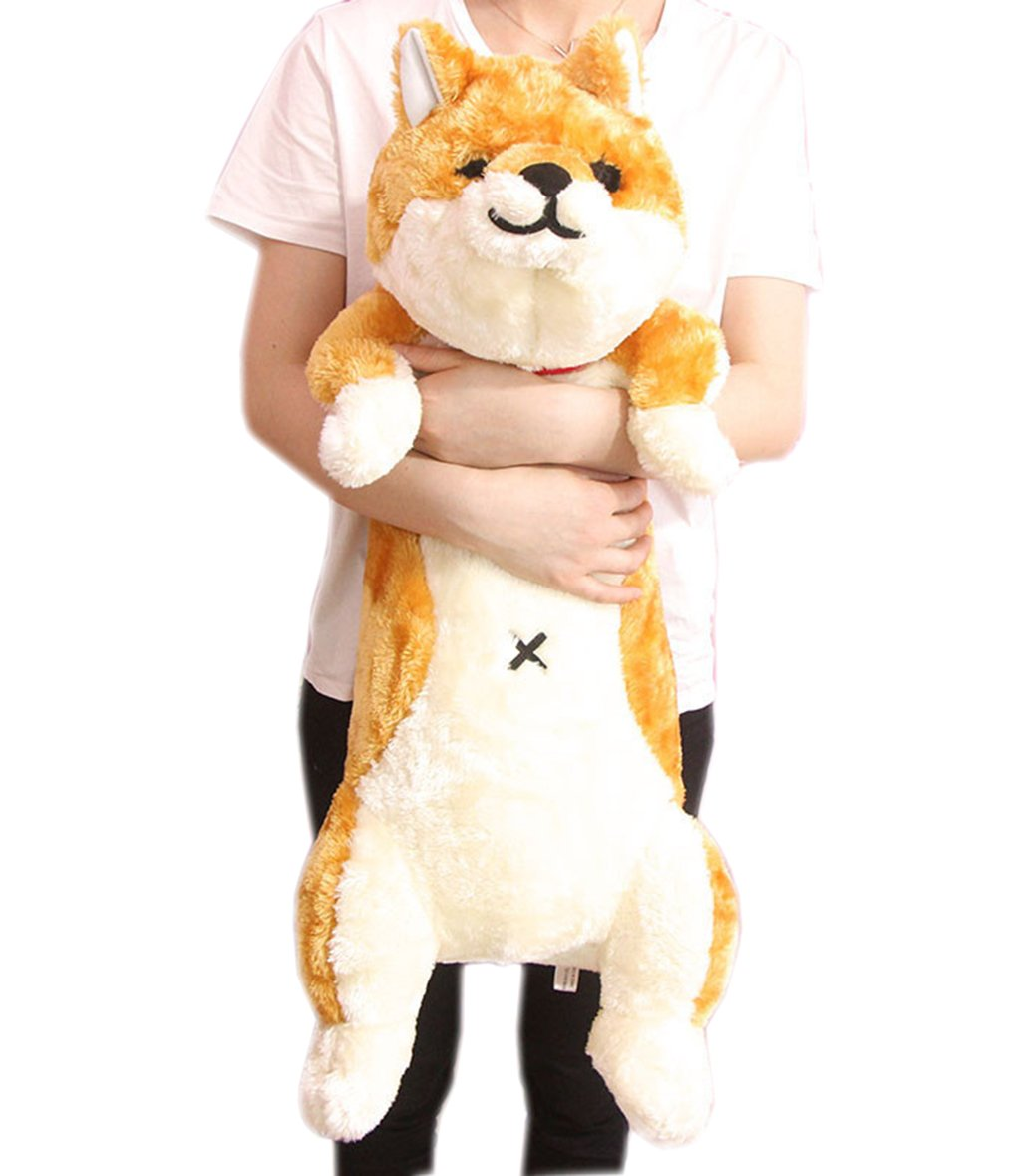 Lcoco&Dream Cute Plush Toys Pillows Giant Stuffed Animals Dog of Shiba Inu Length 33 Inches Gold